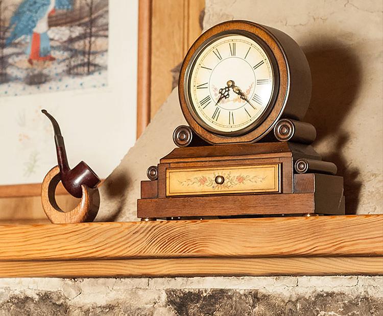 Clock on a Mantel